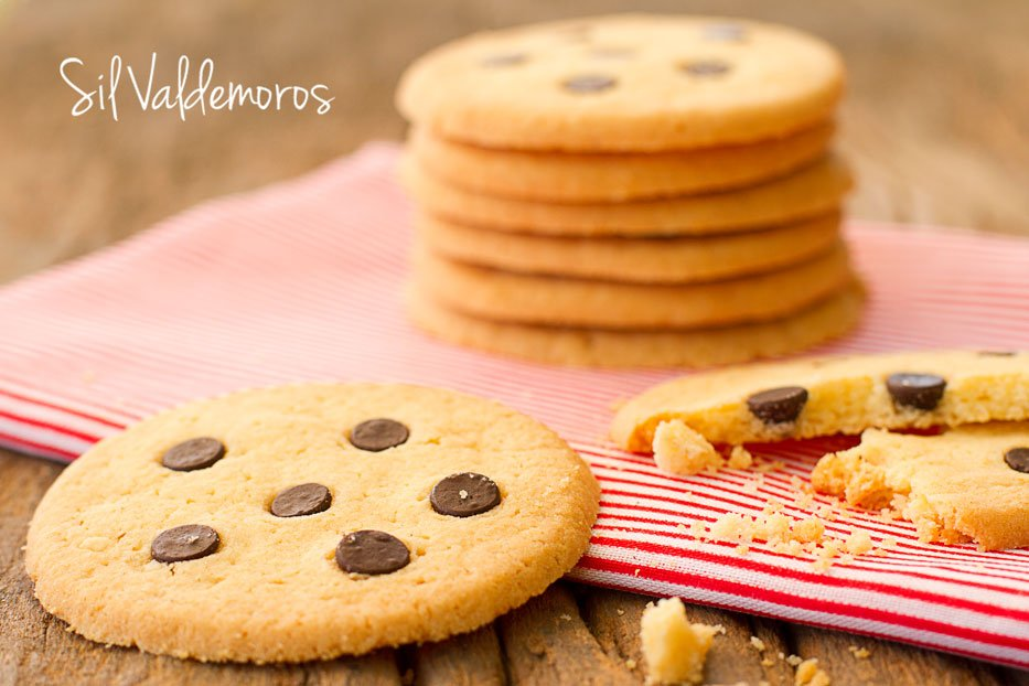 Cookies con chips de chocolates
